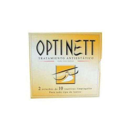 Optinett toallitas limpiagafas (20 toallitas)