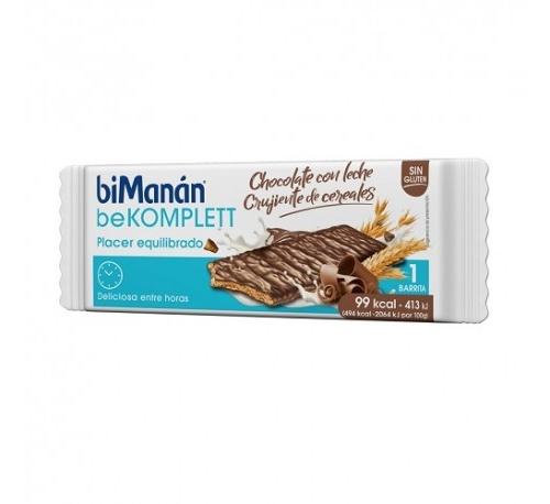 Bimanan snack barrita chocolate con leche