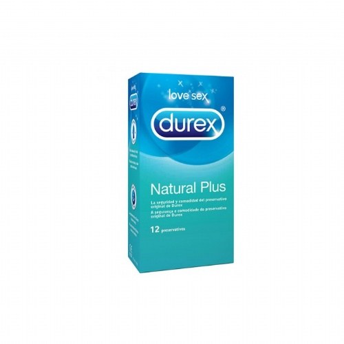 Durex natural plus - preservativos (12 u)