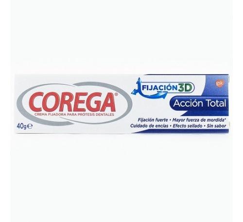 Corega accion total crema fijadora - adhesivo protesis dental (40 g)