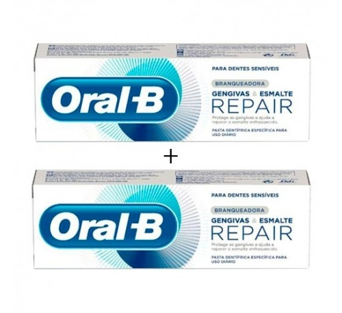 Oral-b pasta encias & esmalte repair blanqueante (2 x (75 ml + 25 ml))