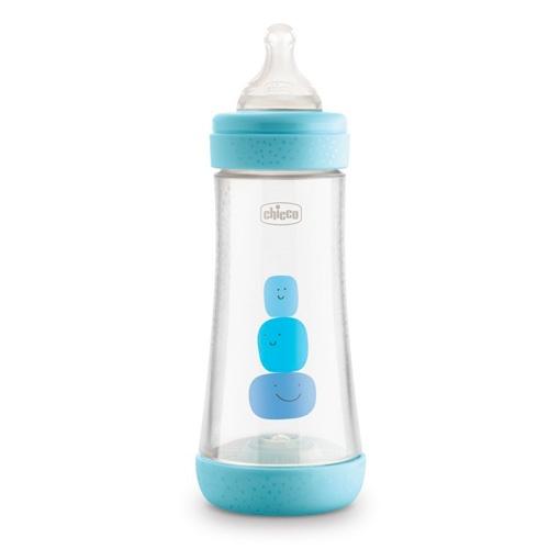 Biberon plastico t silicona - chicco perfect5 (azul 4m+ flujo rapido 300 ml)