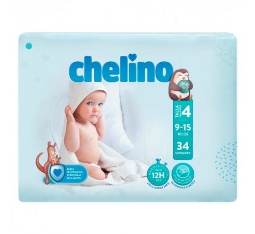Pañal infantil - chelino fashion & love (t- 4 (9 - 15 kg) 36 pañales)