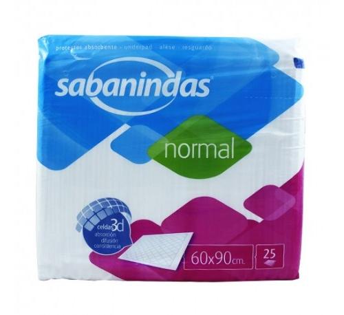 Protector de cama - sabanindas absorbente normal (60 x 90 25 u)