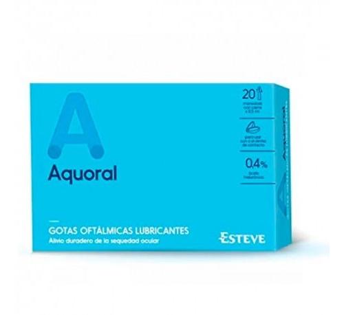 Aquoral - gotas oftalmicas lubricantes esteriles (0.5 ml 20 monodosis)