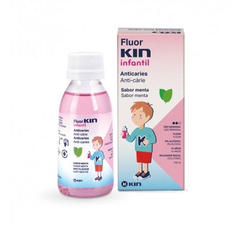 Fluor kin infantil colutorio semanal 0,2 (100 ml)