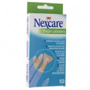 3m nexcare finger plasters - aposito adhesivo (10 tiras)