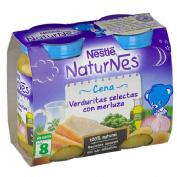 Naturnes cena verduritas selectas con merluza (200 g 2 u)