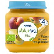 Nestle naturnes bio manzana platano pera y melocoton (tarrito 120 g)