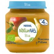 Nestle naturnes bio manzana y platano (tarrito 120 g)