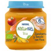 Naturnes bio zanahoria y tomate con pavo (200 g)