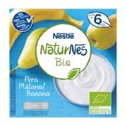 Naturnes bio yogur pera y platano (4 tarrinas x 90 g)