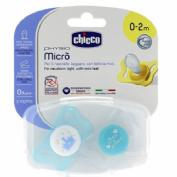 Chupete silicona - chicco physio micro (0-2 m azul 2 chupetes)