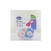 Chupete silicona - chicco physio comfort (niño 6-16 m 2 u)