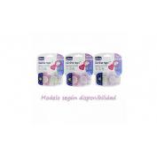 Chupete silicona - chicco physio comfort (niña 16-36 m 2 u)