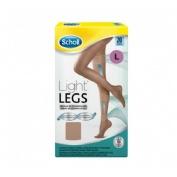 Medias e.t. cint comp ligera 20 den - scholl light legs (carne t- l)