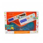 Vitis kids gel dentifrico + cepillo + gadget (1 envase 50 ml)