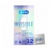 Durex invisible extra fino extra lubricado - preservativos (12 u)