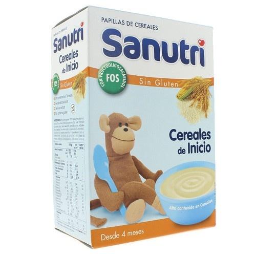 Sanutri papilla inicio cereales fos sin gluten (600 g (300 g 2 bolsas))