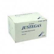 JUSTEGAS 1.871 mg/1.398 mg GRANULADO EFERVESCENTE , 50 sobres