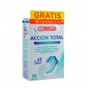 Corega accion total limpiador - limpieza protesis dental (66 tabletas)