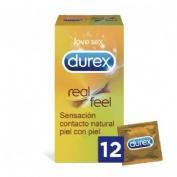Durex real feel - preservativo sin latex (12 unidades)