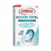 Corega accion total limpiador - limpieza protesis dental (36 tabletas)