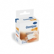 ESPARADRAPO HIPOALERGICO - OMNIPOR (DE PAPEL 5 M X 2,5 CM CON DISPENSADOR)