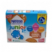 Nestle junior crecimiento 1+ galleta maria (200 ml 6 u)