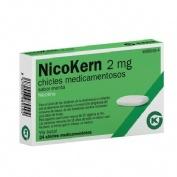 NICOKERN 2 MG CHICLES MEDICAMENTOSOS SABOR MENTA , 24 chicles (PVC/PE/PVDC/AL)