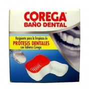 Corega recipiente baño dental limpieza protesis