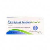 HIPROMELOSA LESVI 3,2 MG/ML COLIRIO EN SOLUCION EN ENVASE UNIDOSIS , 30 envases unidosis de 0,5 ml