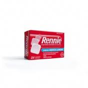 RENNIE COMPRIMIDOS MASTICABLES CON SACAROSA, 84 comprimidos