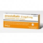 ANESTEFARIN 5 mg/5 mg COMPRIMIDOS PARA CHUPAR , 20 comprimidos